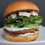 Brie and Onion Jam Veggie Burgers