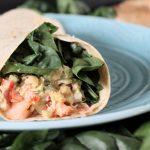 Chickpea Salad and Salmon Wraps