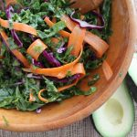 Colorful Kale Ribbon Salad