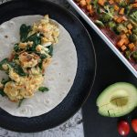 Salsa Scrambled Eggs and the Best Ever Veggie Breakfast Burrito