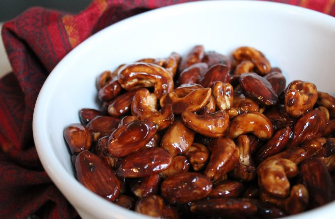 Completely Addictive Spicy Candied Nuts