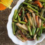 Snap Pea, Asparagus, and Turnip Primavera