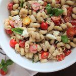 Caprese Pasta Salad with Balsamic Cream Sauce