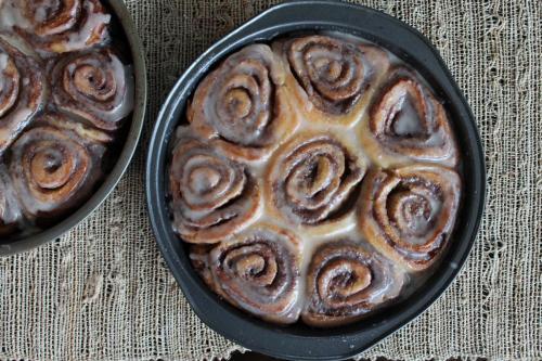Glazed Cinnamon Buns Redux