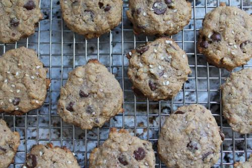 Salted Tahini Chocolate Chip (Lactation) Cookies