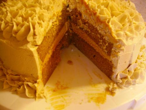 Pumpkin Caramel Layer Cake