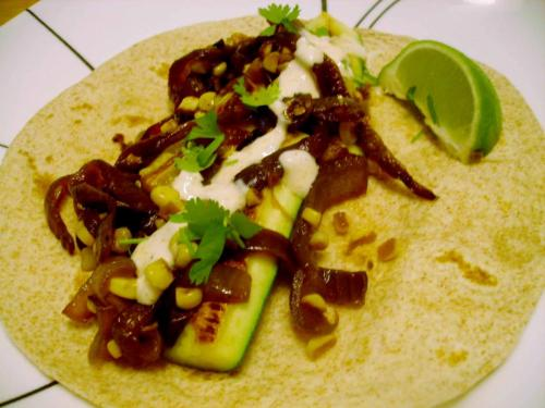 Corn and Zucchini Tacos