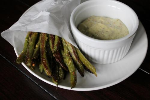 Green Bean Fries with Wasabi Mayo