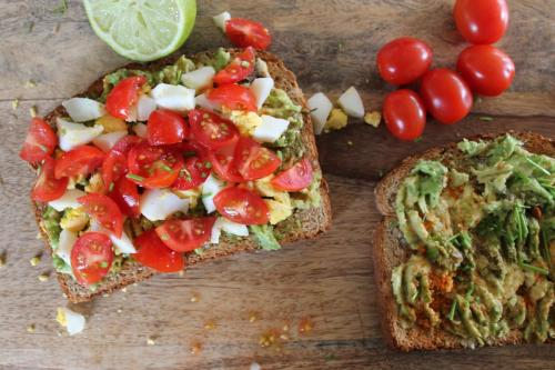 Avocado, Egg, Tomato Sandwiches