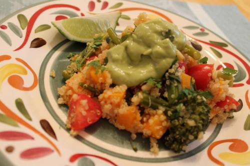 Quinoa with Butternut and Broccolini