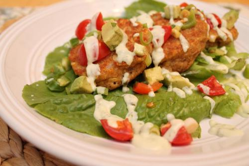 Corn Cakes with Tomato Avocado Salsa