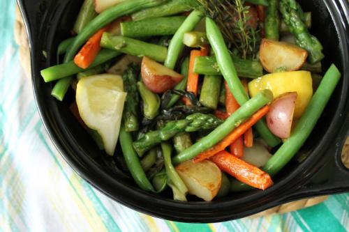 Olive Oil-Braised Spring Vegetables
