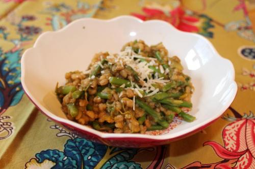Barley Risotto with Asparagus