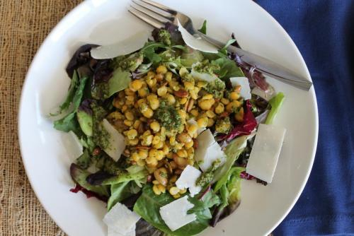 Yellow Split Peas and Mixed Greens Salad
