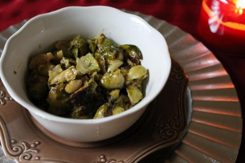 Cream-Braised Brussels Sprouts