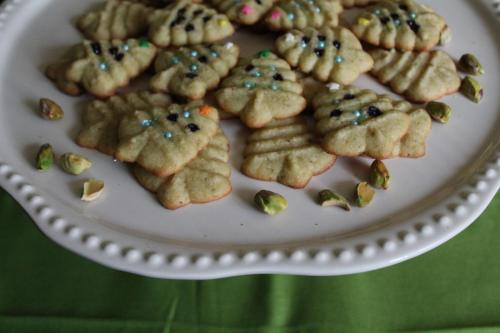 Pistachio Spritz Cookies