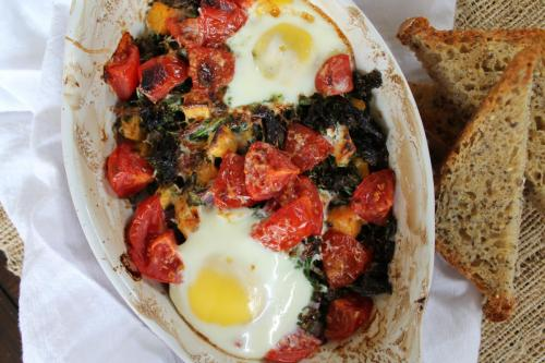 Rainbow Baked Eggs