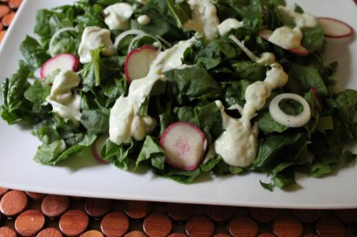 Spinach Salad with Creamy Ranch