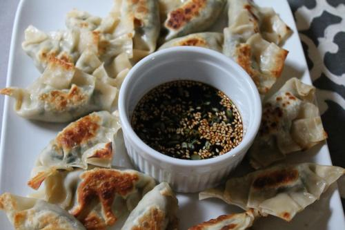 Vegetable Potstickers with Sweet Chili Soy Sauce