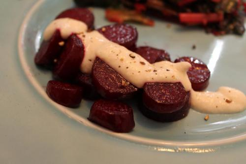 Roasted Beets with Creamy Horseradish Sauce