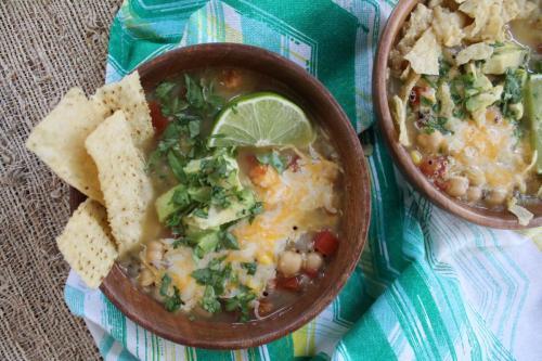 Quinoa and Chickpea Tortilla Soup