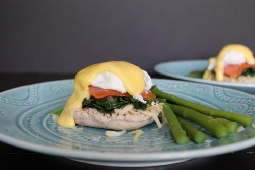 Eggs Florentine with Smoked Salmon and Asparagus
