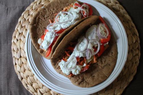 Veggie Gyros with Tzatziki Sauce