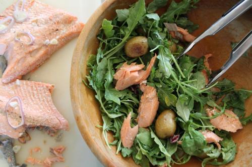 Salmon and Arugula Salad with New Potatoes