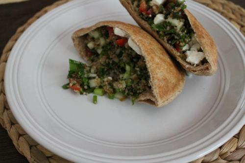Tabbouleh Pitas with Feta