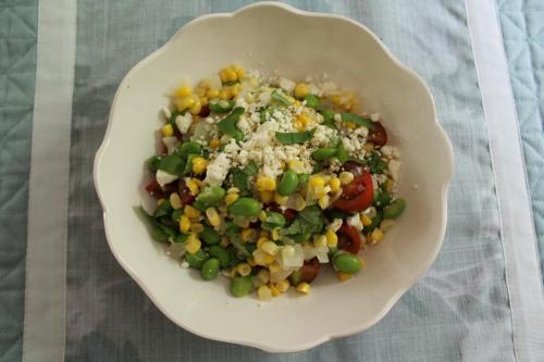 Succotash with Feta and Basil