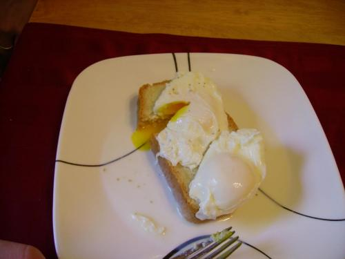 Daddy's Milk-Poached Eggs