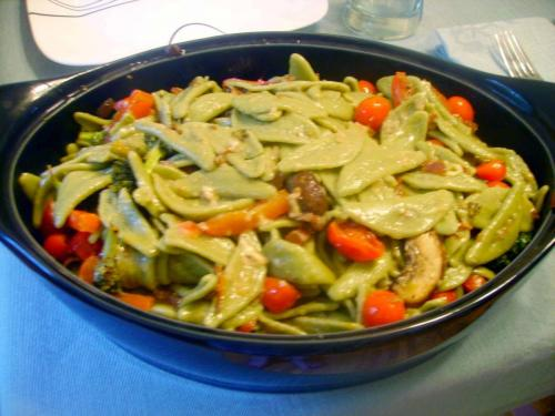 Pasta Primavera in White Wine Butter Sauce