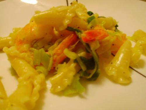 Shrimp and Leek Pasta