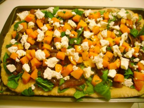 Butternut Squash and Goat Cheese Flatbread Pizza