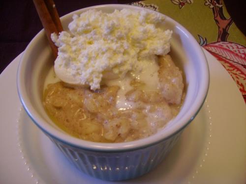 Vanilla Bean Risotto Pudding