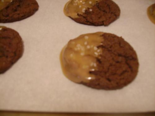 Fleur de Sel Caramel Chocolate Cookies