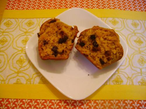 Sweet Potato Chocolate Chip Muffin