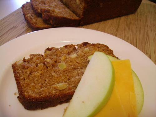 Apple Cheddar Quickbread